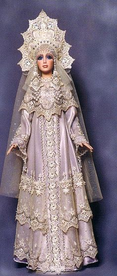 Doll in the costume of a Russian medieval princess