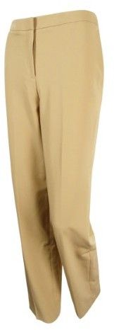 Tommy Hilfiger Women's Solid Relaxed-Fit Fairfield Trousers (4, Camel)