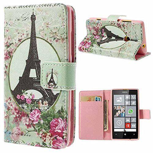 Mobile24 Nokia Lumia 520, Lumia 525 Custodia Portafoglio, Cover, Bookstyle Book Case con funzione Sostegno - Tour Eiffel, http://www.amazon.it/dp/B00T55FL9Q/ref=cm_sw_r_pi_awdl_19DtxbPWQGV6K