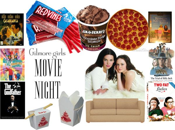 """Gilmore Girls Movie Night"" by huntressofnostalgia on Polyvore"
