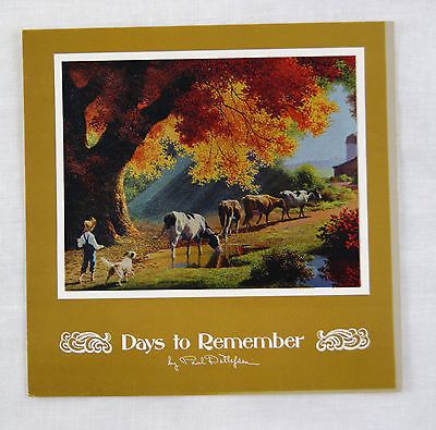 Vintage 1970's Paul Detlefsen Close of the Day Color Foil Etch Fold Out Card