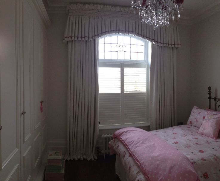 Smocked silk valance and curtains.  Perfect for a little princesses room Made by Teresa