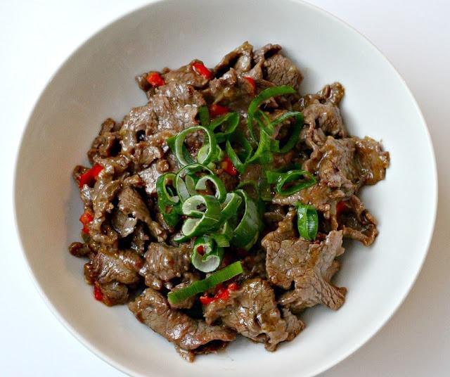 Stir fried beef with cumin