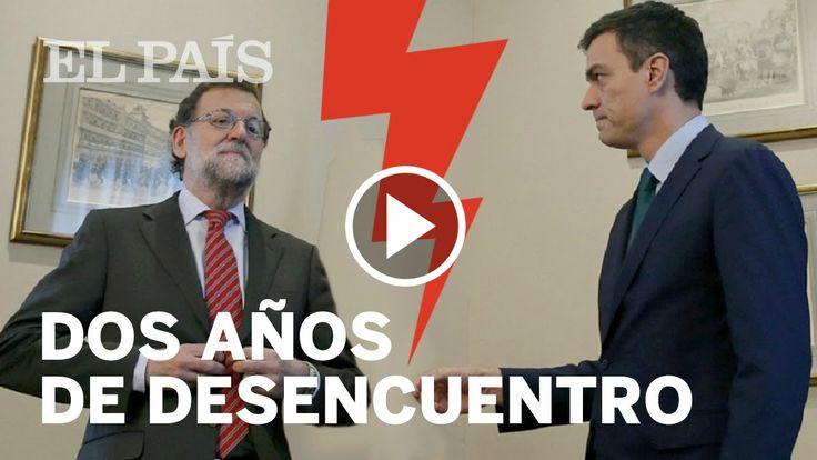 """2 años de desencuentros entre Mariano Rajoy y Pedro Sánchez. """"El presidente del gobierno tiene que ser una persona decente, y usted Sr. Rajoy no lo es"""" http://www.ledestv.com/es/noticias/noticias-de-espana/video/momentos-clave-de-los-dos-anos-de-desencuentros-entre-rajoy-y-sanchez/3651 #Psoe #Gobierno"""