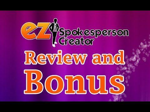 EZ Spokesperson Creator   BEST REVIEW
