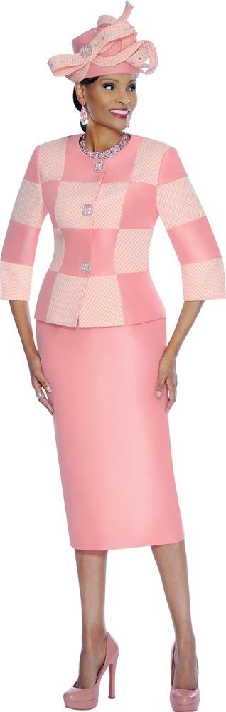 #7445 TERRAMINA SKIRT SUIT PLUS DICKIE 100% POLYESTER #SkirtSuit