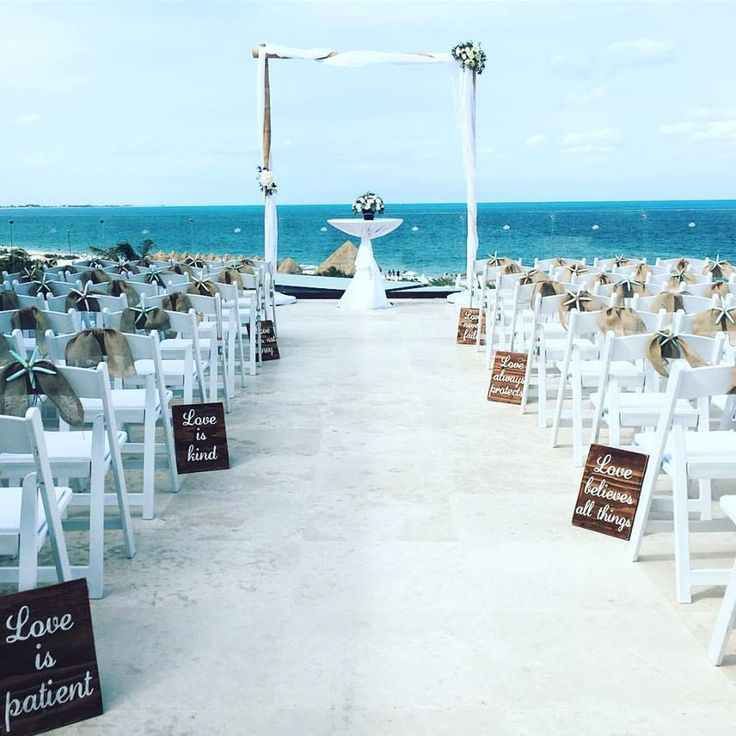 all inclusive beach wedding destinations%0A A ceremony setup at the Paramount Suite at Dreams Playa Mujeres Resort  u      Spa  We are loving this wedding aisle decor