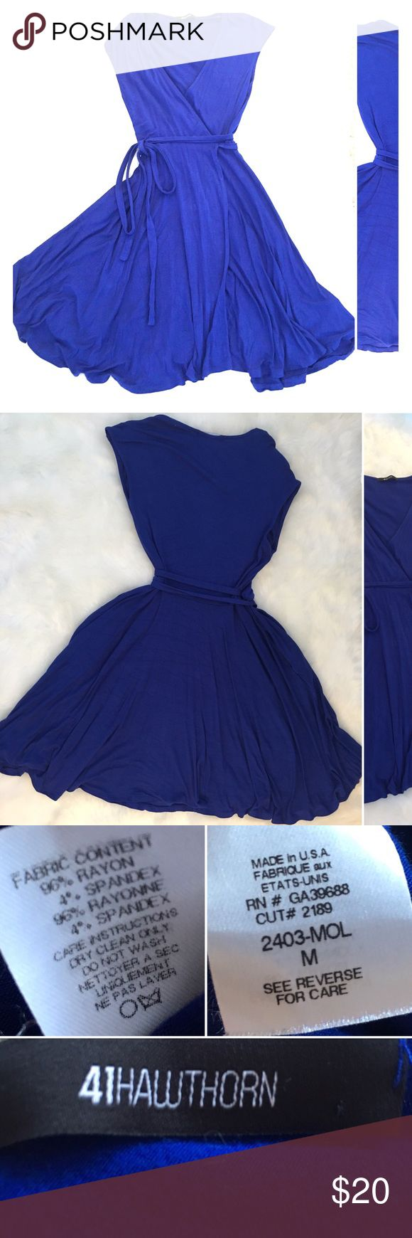 41Hawthorn - Calafia Jersey Wrap Dress PRICE DROP! HAS POCKETS! Comfortable chic blue wrap dress. Versatile, can be dressed up or down. Received as part of a Stitch Fix package. Open to bundling and price negotiation with multiple purchases! 41 Hawthorn Dresses