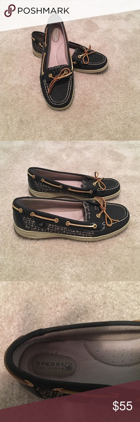Black Sperry Barely worn! Sperry Shoes Flats & Loafers