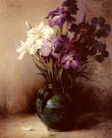 Japanese Iris - Six Varieties, John Ferguson Weir.