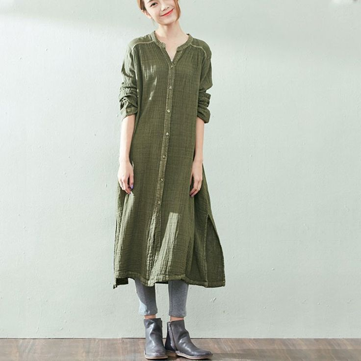 Autumn Loose Cotton Green Jacket