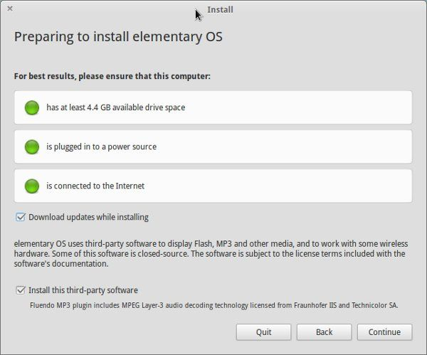 Elementary OS installation