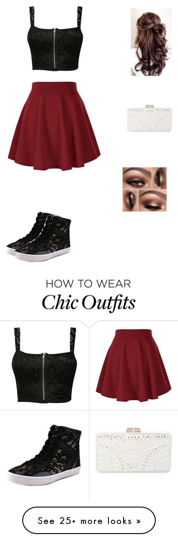 """chic skater"" by invisiblexlight on Polyvore featuring Pilot, Rebecca Minkoff and BCBGMAXAZRIA"