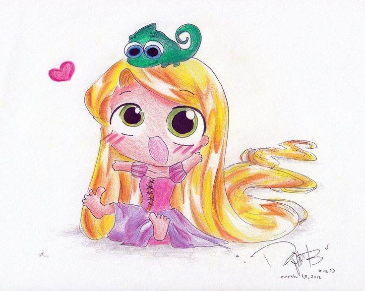 16 Best Cute Disney Characters Images On Pinterest: Chibi Disney Rupunzel