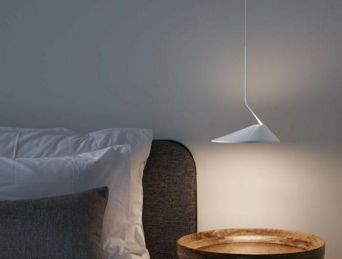 1001 id es pour une lampe de chevet suspendue dans la chambre coucher luminaires chevet - Luminaire suspendu chambre a coucher ...
