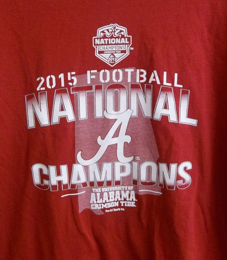 2015 University Of Alabama Football National Champions T-Shirt Adult L Large  #Gildan #AlabamaCrimsonTide