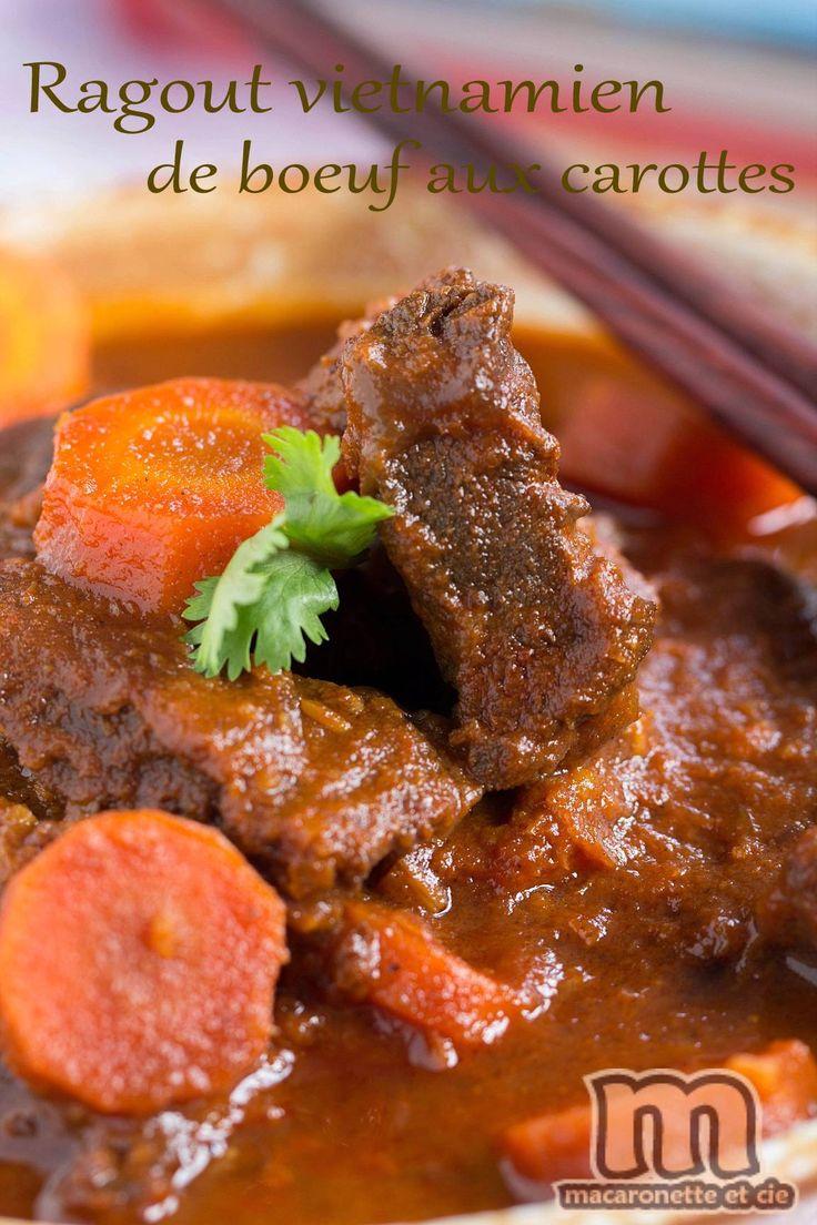 Bò kho - Ragout vietnamien de boeuf et carottes - Macaronette et cie