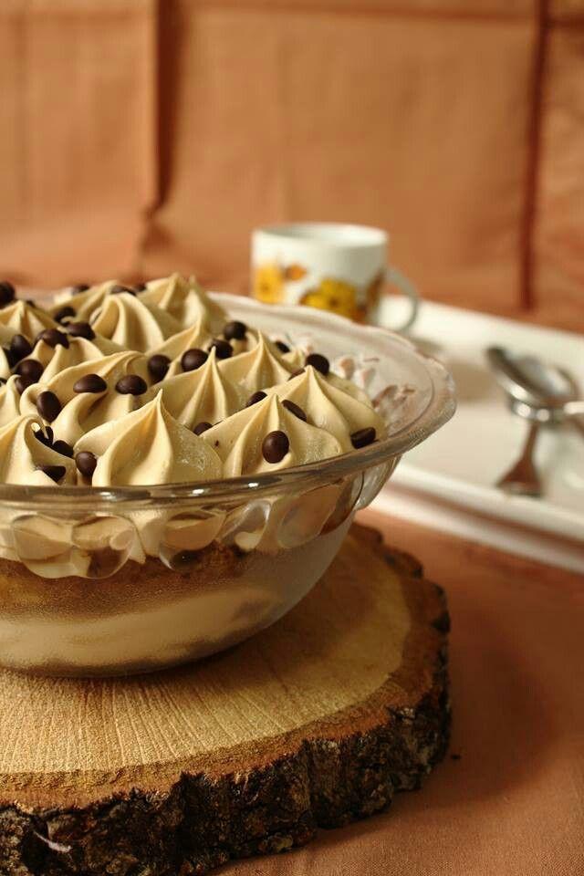 Coppette tiramisù con ganache al cioccolato bianco e caffè