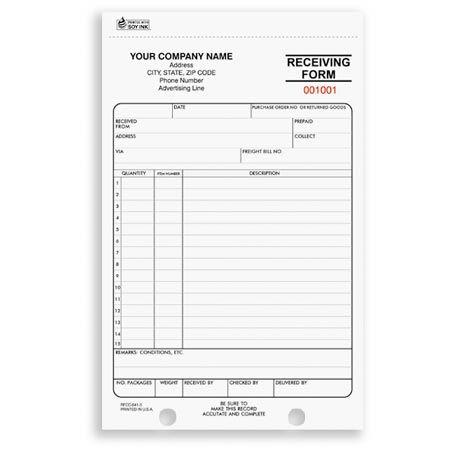 RFCC641  Receiving Form   Shipping