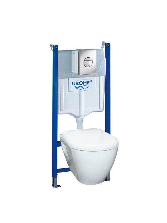 4800 kr K-rauta Wc-Stol Vägghängd GROHE Solido komplett