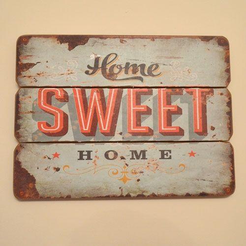 Cartel retro de publicidad simulando publicidad de los - Sweet home muebles ...