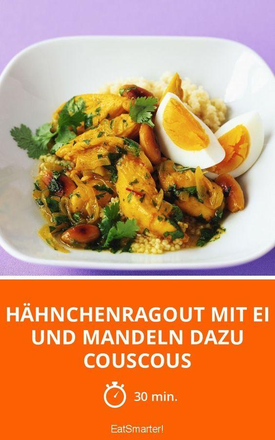 Hähnchenragout mit Ei und Mandeln dazu Couscous - smarter - Zeit: 30 Min.   eatsmarter.de