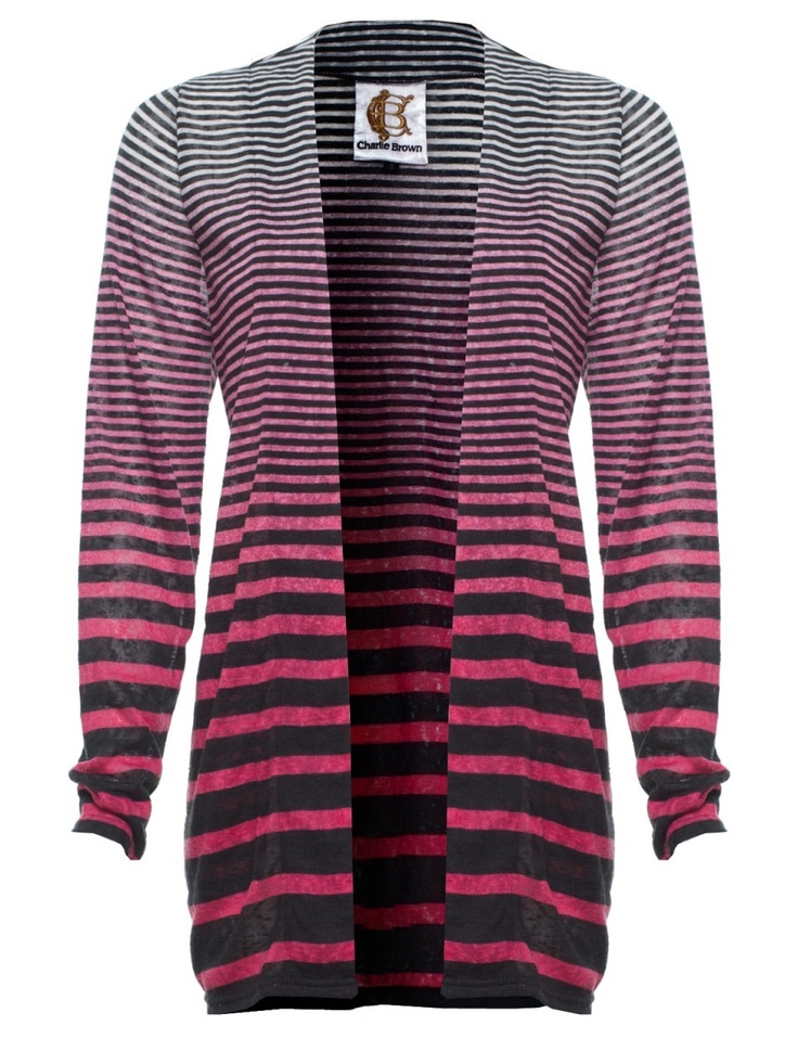 Usually I pin more formal wear or office wear, but this is such a cute cardi with pink ombre and different stripes. I could totally see me rocking this cardi in Bogota.