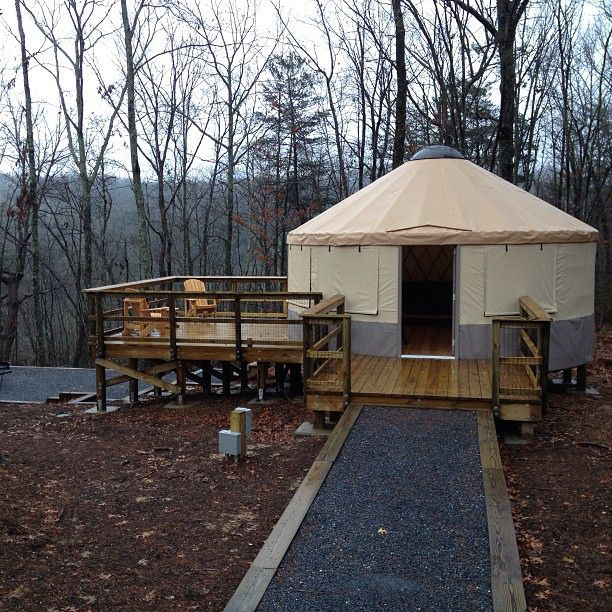 Yurt camping at it's finest.  New yurt village at Cloudland Canyon State Park in GA. #yurt #camping #cloudlandcanyon by Jones Tactical, via Flickr