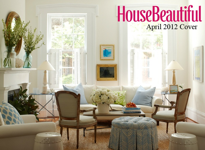 Nice House Beautiful April 2012   Lynn Morgan Design  Like This And Ottoman For  The Front Room Part 27