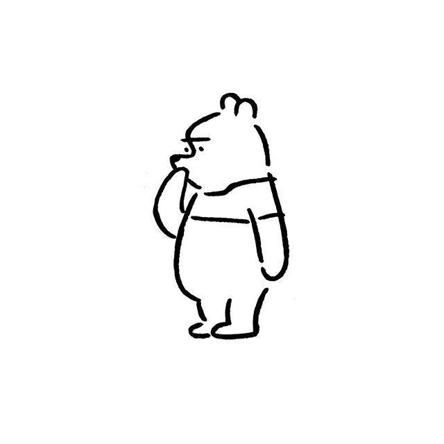 Winnie-the-Pooh. #winniethepooh #yunagaba #kaerusensei #art #長場雄
