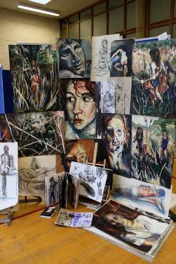 A Level Art - work displayed