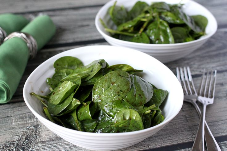 A simple spinach salad with an easy homemade balsamic vinaigrette!