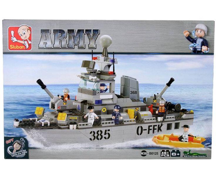Sluban Army - Torpedobootjager M38-B0125 #sluban #slubanarmy #speelgoed