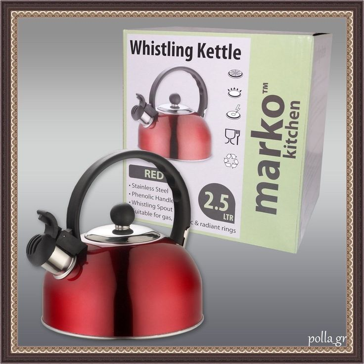 Whistling Kettle Stainless Steel Home Kitchen Appliances Caravan Camping 2.5 Ltr | eBay