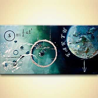 Abstract painting - Galileo Formula, Osnat