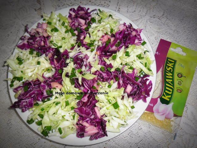 Moje domowe kucharzenie: Surówka -2 kolory