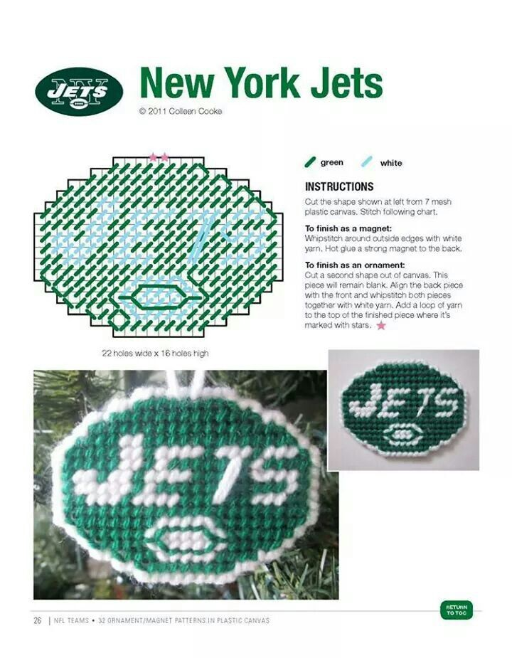 NEW YORK JETS ORNAMENT/MAGNET