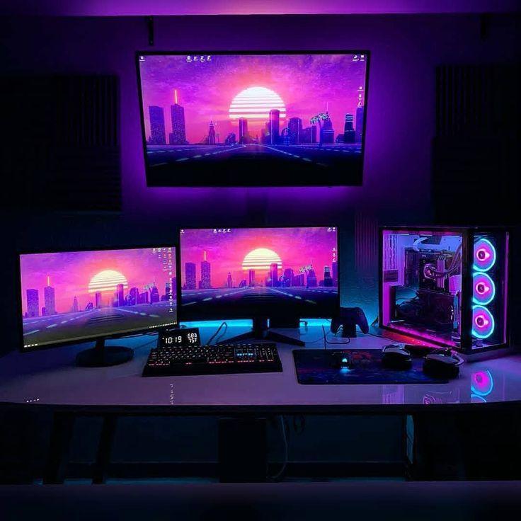 Gaming Setup Accessories Gaming Setup Accessories Gaming Setup Zubehor Accessoires De Configur In 2020 Gaming Setup Ps4 Gaming Room Setup Video Game Room Design