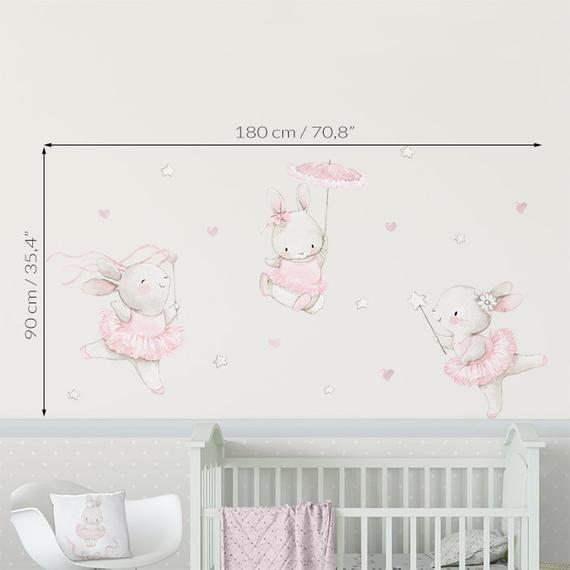 Fabric Wall Decal Ballerinas Nursery