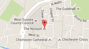 Map of the novium chichester