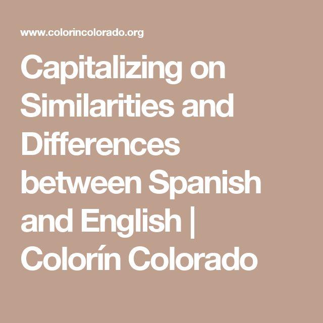 Comparison between spanish and british methods
