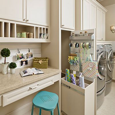 Morning Star Laundry Room - Custom Builder Showcase Homes Span the South - Southern Living