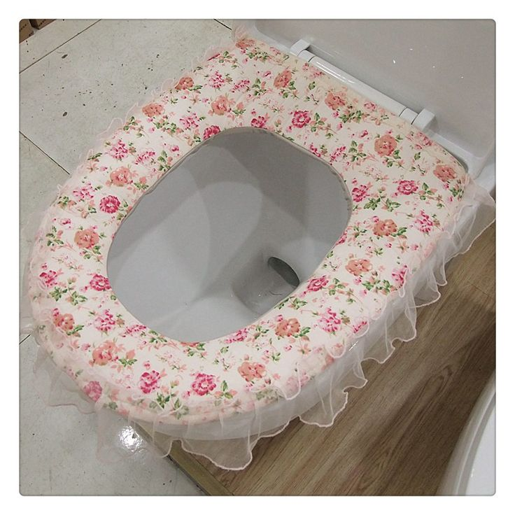 Btathroom Rustic Fabric Cloth Lace Toilet Set Cover Bath Mat Holder Thickening Thermal Potty Set Toilet Seat Cushion