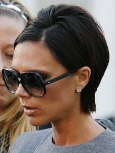 Victoria Beckham Casual Short Hair Style