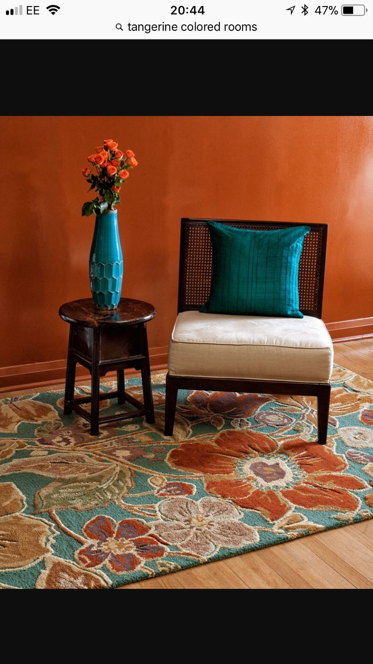 Color harmony because it is a complementary color scheme - Blue and orange color scheme for living room ...