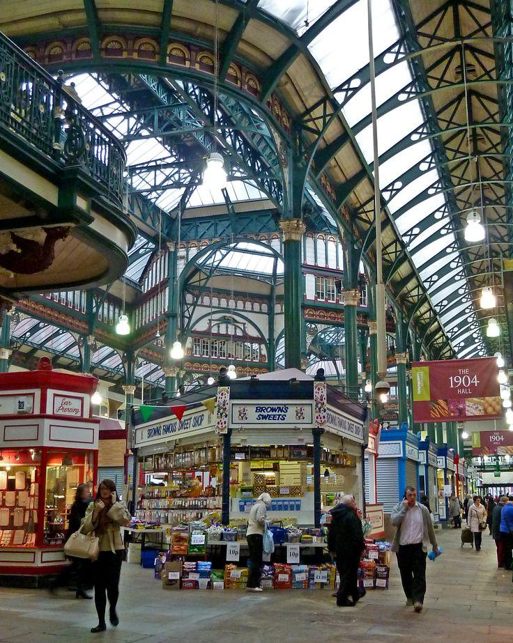 Leeds Kirkgate Market, Leeds, England | Description 1904 Hall, Kirkgate Market, Leeds, West Yorkshire (Taken ...