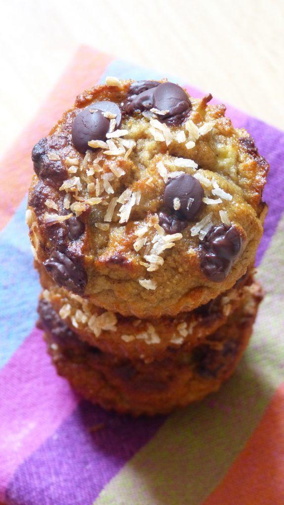 Skinny muffins banane coco aux pépites de chocolat