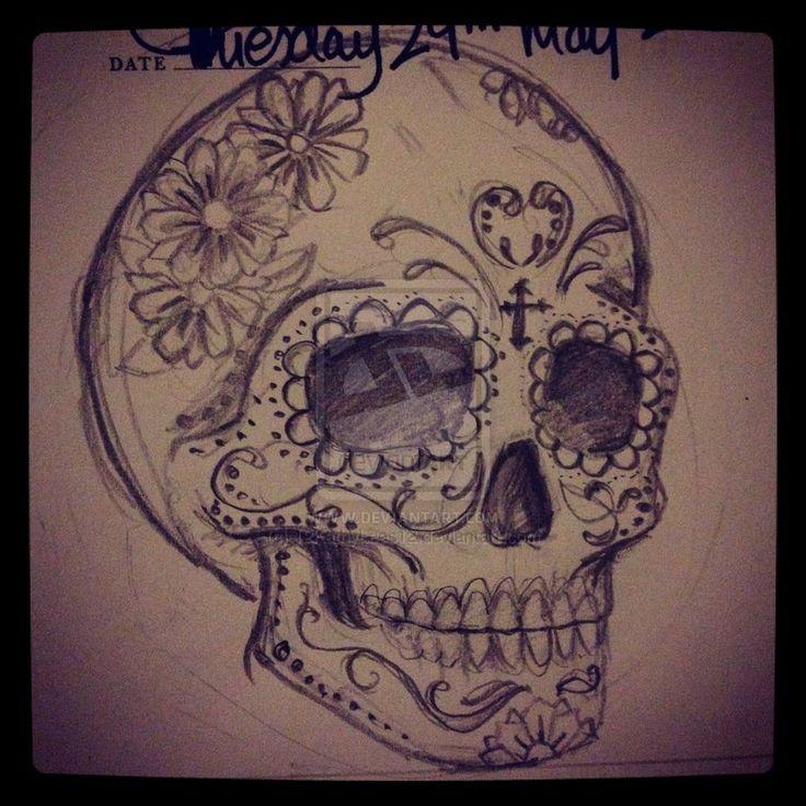 Sugar Skull Art | Sugar Skull by ~12KathyLees12 on deviantART