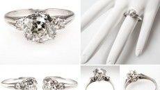 antique mine cut diamond engagement ring 2016