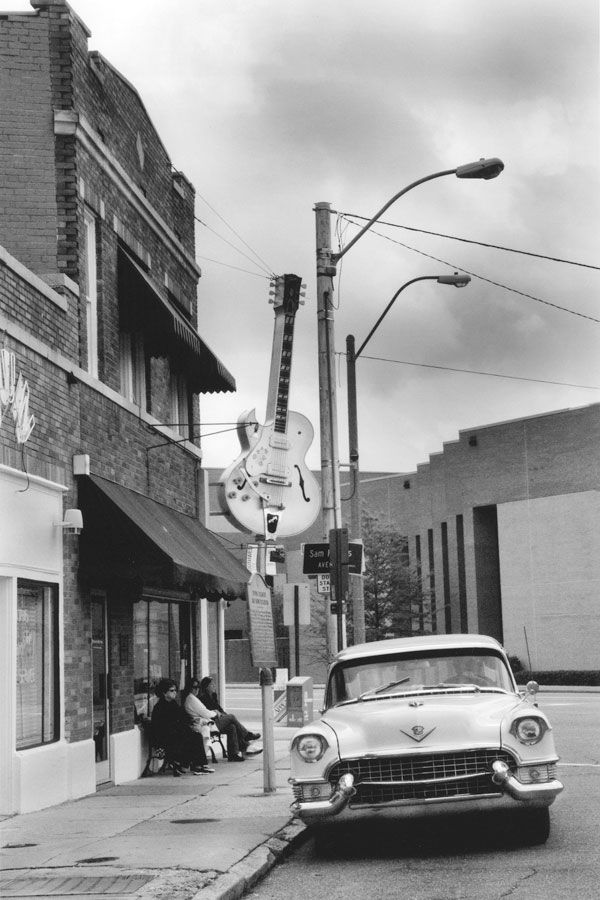 Sun Studio, 706 Union Avenue, Memphis, Tennessee. (Howlin' Wolf, Elvis Presley, Jerry Lee Lewis, Johnny Cash, Roy Orbison, Carl Perkins, Junior Parker, BB King, James Cotton, Rufus Thomas, and more.)